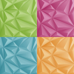 3D Polygon Background abstract vector design templates set