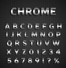 Chrome alphabet set