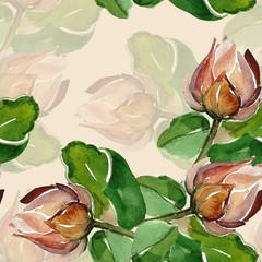 Summer bud seamless pattern