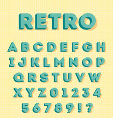 Graphic 3d retro characters