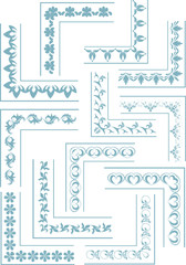 Calligraphic corners, frames and design elements vectorized.