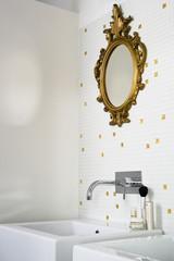 detail of modern bathroom