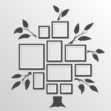Tree with frames - 76827150