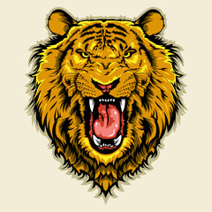 angry lion head