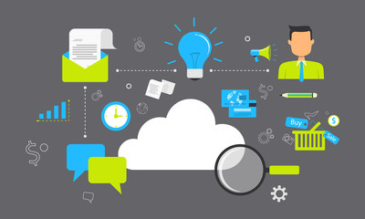 business on cloud network connection technology