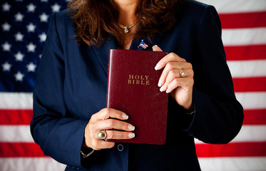Politician: Holding a Bible