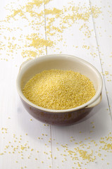 organic millet in a bowl