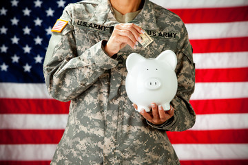 Soldier: Saving in a Piggy Bank