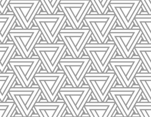 Penrose Impossible Triangle Seamless Pattern