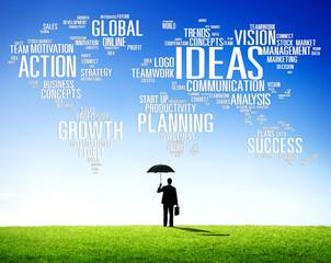 Businessman Frustration Protect Creativity Ideas Concept