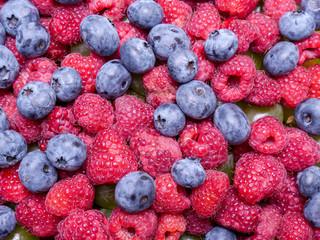 Raspberries and cowberries