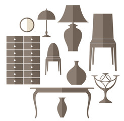 Furniture. Icon set