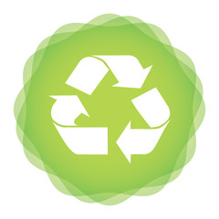 Ecology concept with recycle icon