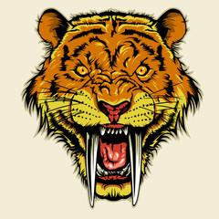 angry sabertooth head