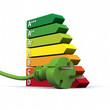 canvas print picture - 3D energy efficiency