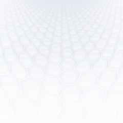 Abstract hexagonal shapes background