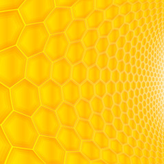 Hexagonal textured background, honeycomb shaped design.