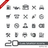Fototapety Gas Station Icons -- Basics