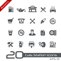 Gas Station Icons -- Basics