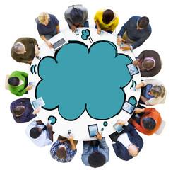 Social Network Communication Technology Speech Bubble Concept
