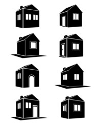 Houses icons set. Real estate