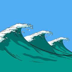 Vector sea waves