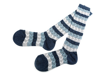 Female socks isolated on a white background