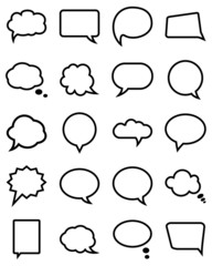 Speech bubble collection.