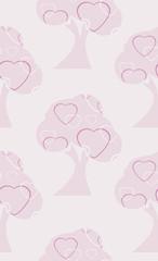 Love tree. Seamless background