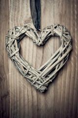 Coeur en osier tressé
