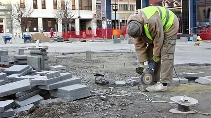 Cutting brick