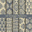 set of ten vintage patterns