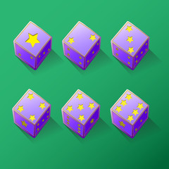 Illustration Set of Star dices
