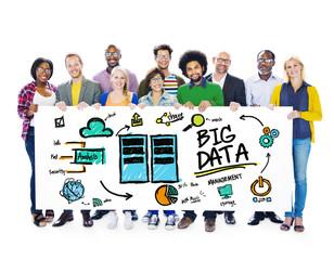 Diversity People Big Data Database Share Teamwork Concept