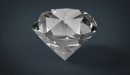 Diamond on a gray background