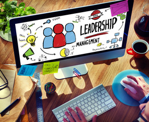 Leadership Management Digital Communication Manage Concept
