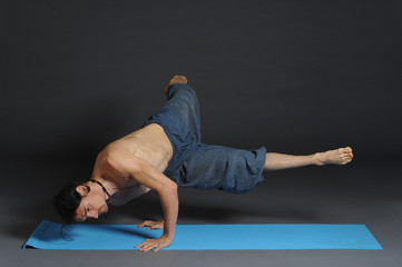 Man doing yoga