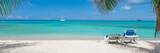 Tropical beach panorama - 76836756