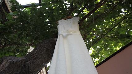 wedding dress - dolly shot
