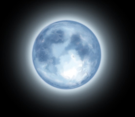 luna fondo negro