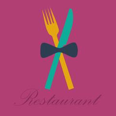 Vector sign restaurant deluxe, flat design