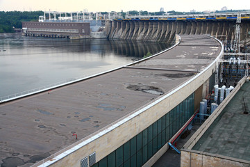 Zaporizhzhya, Ukraine. DniproGES Dam and Electric Station