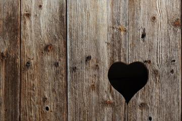 Window like a shape of the heart