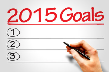 2015 Goals list, business concept
