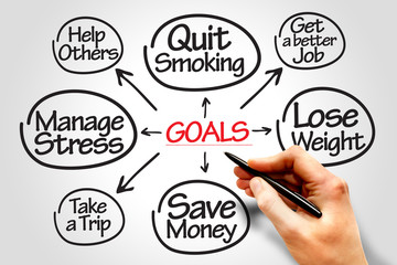 Goals diagram business concept