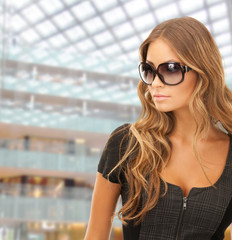 beautiful young woman in shades