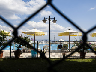 Closed private beach