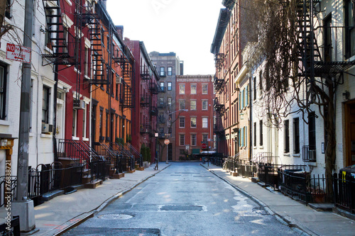 Foto Spatwand New York Historic Gay Street in New York City