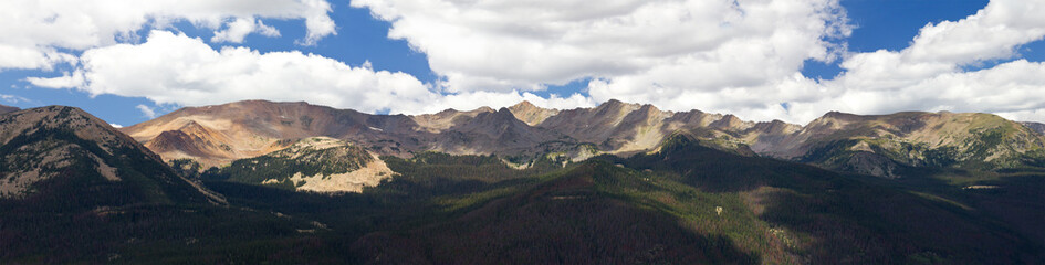 Panoramic Mountain Landscape in Colorado
