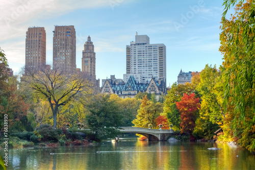 Foto Spatwand New York Central Park in Fall